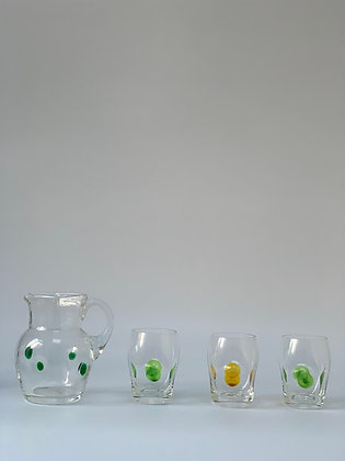 Theresienthal Crystal Glass Jug & Three Tumblers