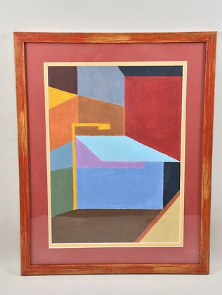 Abstract Painting, Framed - Dated & Signed
