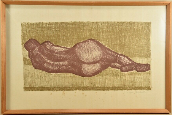 Coloured Print, Nude, Signed