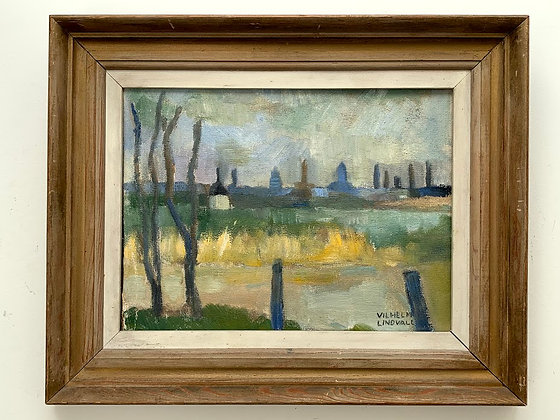 Framed Oil On A Board, 20th Century, Signed