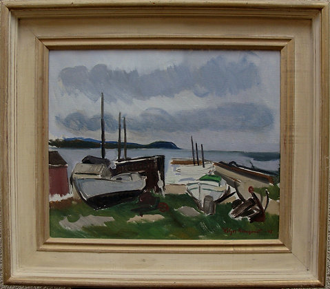 Framed Oil Painting, 20th Century by Holger Almqvist
