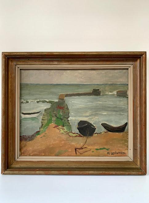 "Hjalmar Lundström 1879-1963, ""the small fishing village"", um 1940"