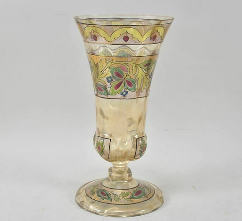 Hand Painted 20th Century Glass