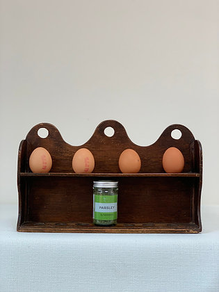 Beautiful Wooden Egg Holder, 19th Century.