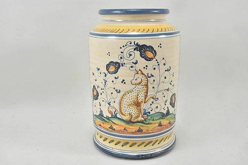 Ceramic apothecary container, Albarello