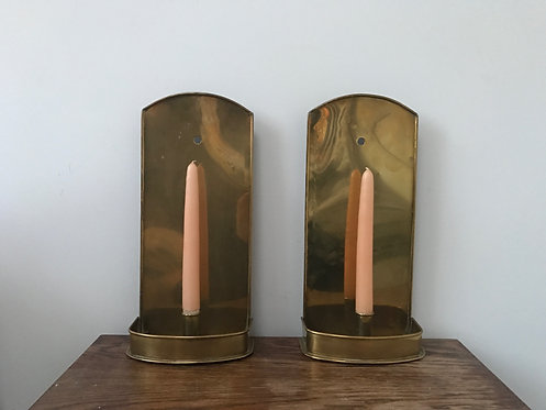 Wonderful Pair of Brass Sconces