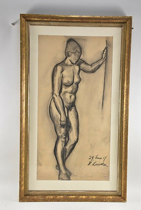 Charcoal Nude, Signed Luiden
