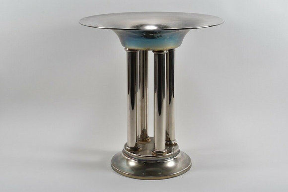 1980s Silver Plated Pedestal By HRW Fink