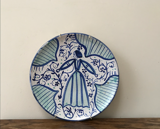 Wall Plate Blue and White