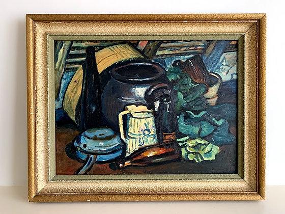 Framed 20th Century Still Life Oil Painting