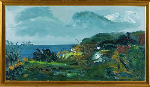 Oil on Canvas, Costal Scene by Lars Herder