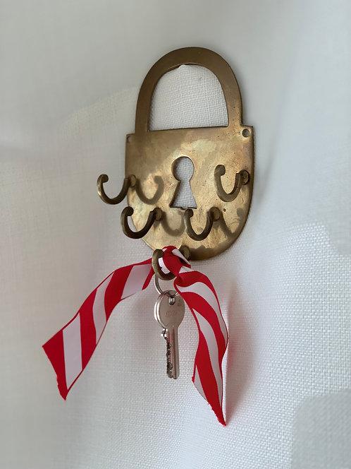 Vintage Brass Padlock Hook