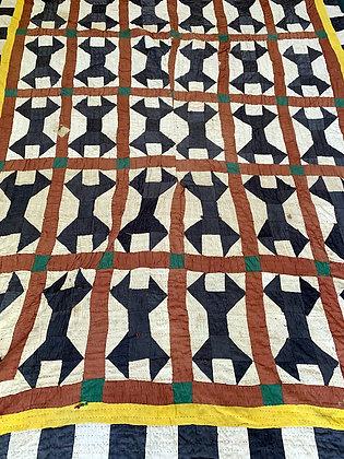 Antique Handmade Patchwork Kantha Quilt