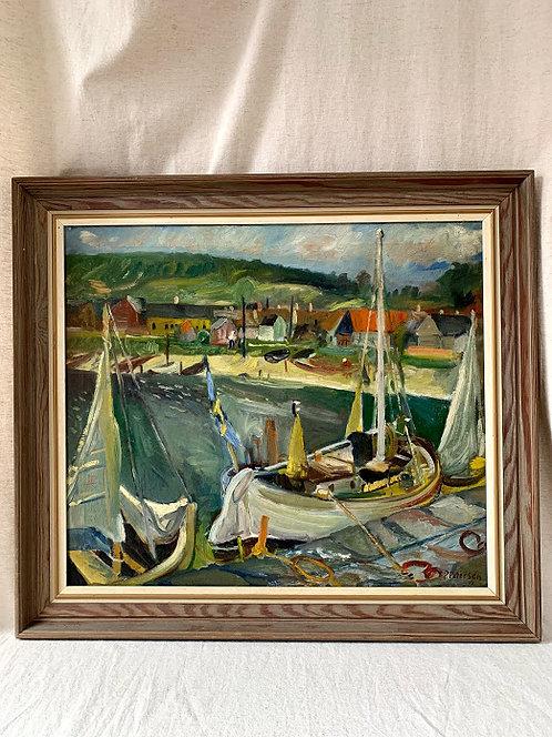 Harbour Motif, Dated 1942