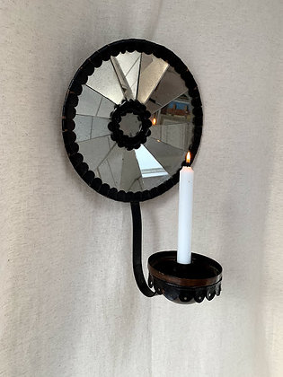 Large Metal & Mirrored Sconce