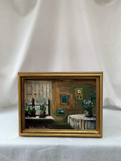 Framed Oil by Roland Lindberg