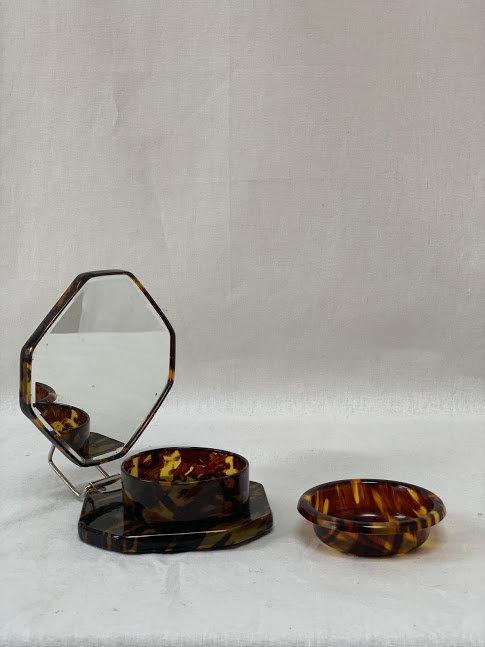 Art Deco Folding Shaving Mirror