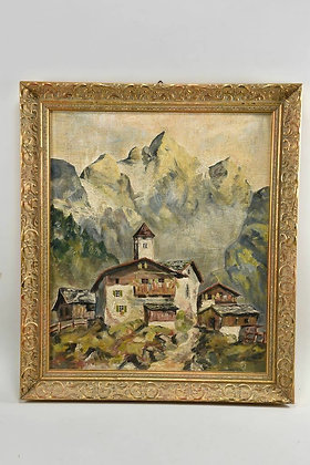 Painting of Mountains signed E.Obermeir