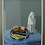 Thumbnail: Gunnar Fohlin * 1940. Still life with fruit plate and figure, dated 1989