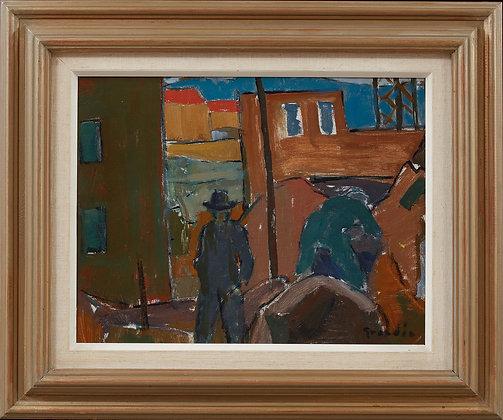 The Boat, Framed Oil by Svän Grandin