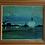 Thumbnail: Framed Oil, Evening Harbour Scene