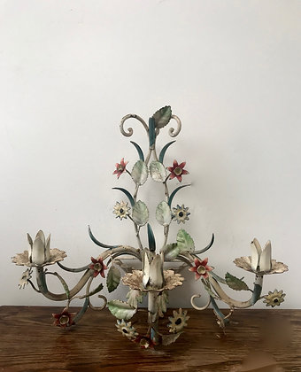 Three Armed Toleware Sconce