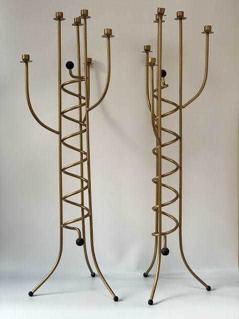 A Pair of Large Candelabras