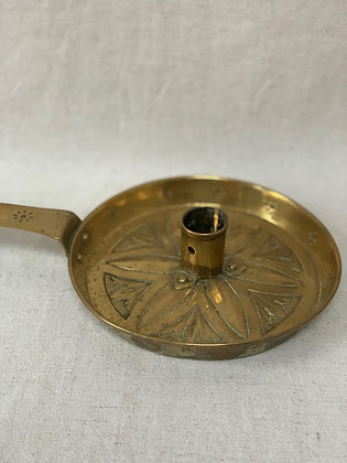 19th Century Brass Candleholder