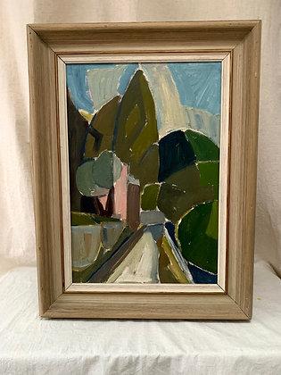 20th Century Framed Oil Painting.