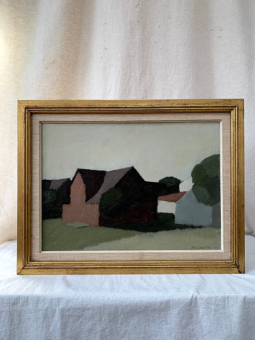 'Cottages in Evening Light', by Björn Hallström