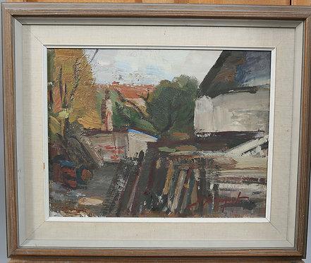 Framed Oil Painting, H Rosenqvist