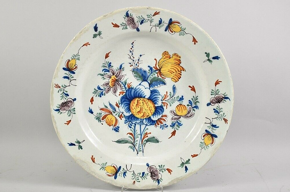 Early 19th Century Faience Charge Plate