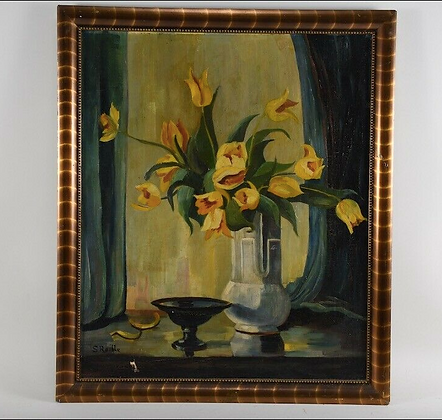 Early 20th Century Framed Oil Painting, Signed S.Raible