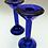 Thumbnail: 1980s Blue Glass Candlesticks