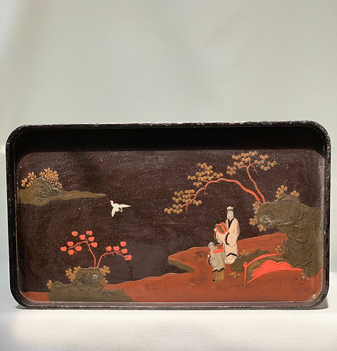 Vintage Japanese Lacquered Tray
