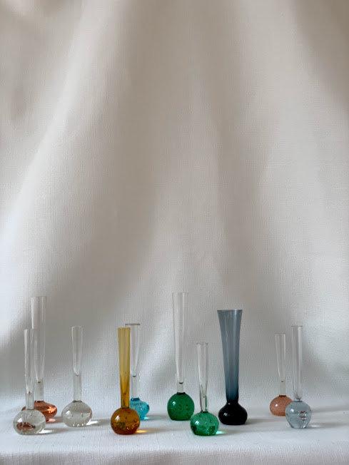 Set of Ten Bud Vases