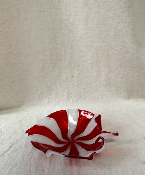 Venetian Glass Leaf Dish