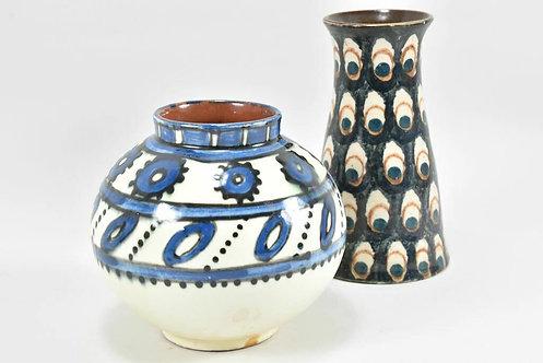 Set of Two Art Nouveau Vases