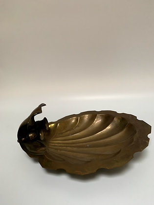 Two Candles - Vintage Shell Sconce