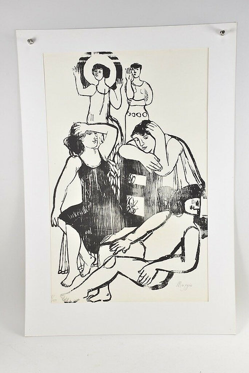 Five Woman, Woodcut