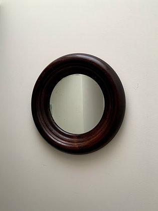 Beautiful Wooden Mirror, Round, Victorian