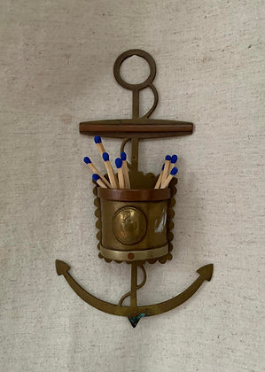 Brass Anchor Wall Pocket