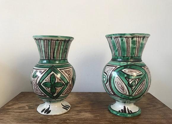 Pair of Vintage Ceramic Vase