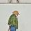 Thumbnail: Antique faience tile painted 18th century