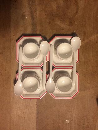 Emsa Vintage Egg Cups & Spoons - Set of 4