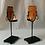 Thumbnail: Mid Century Art Glass Candlesticks