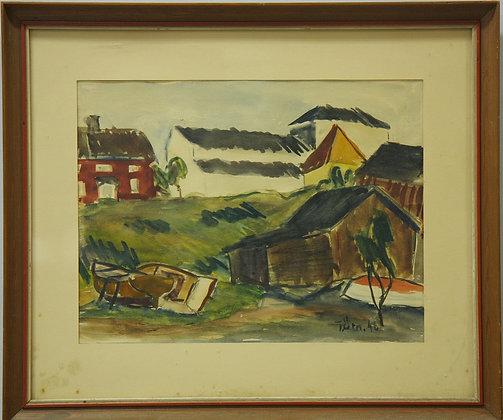 Framed Watercolour by Tryggve Henrik Örn