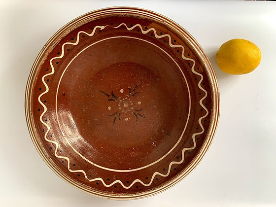 German Folk Ceramic Bowl