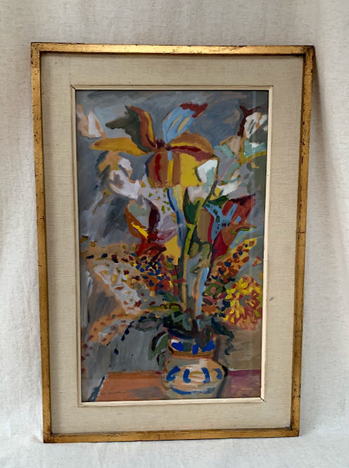 Framed Oil, Flowers in a Vase, Nils Backlin