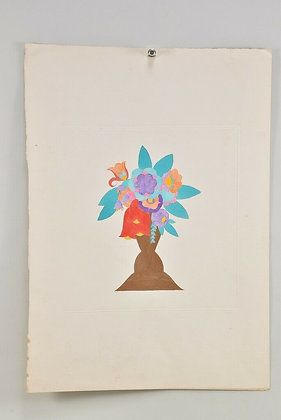 Flower Watercolour, Signed
